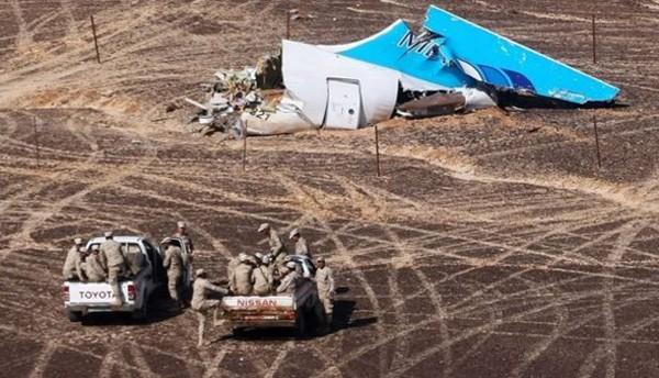 Mảnh vỡ máy bay KGL 9268 tại bán đảo Sinai.