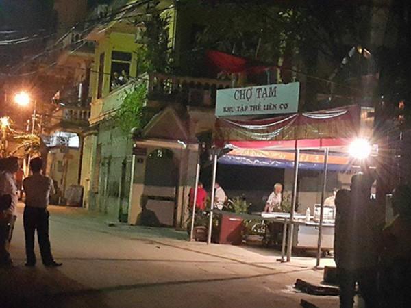 Khu chợ tạm Liên Cơ, phường Hoàng Liệt, quận Hoàng Mai