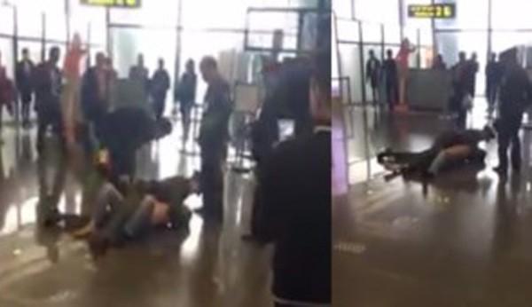 Hình ảnh đối tượng quậy phá tại sân bay