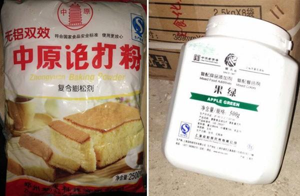 Trên các sản phẩm hoàn toàn ghi chữ Trung Quốc.