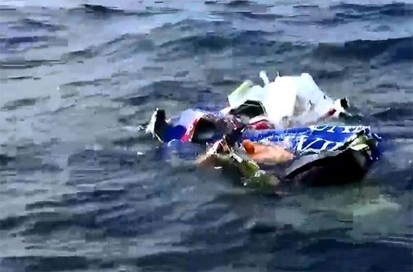 Những mảnh vỡ của máy bay CASA 212 gặp nạn.