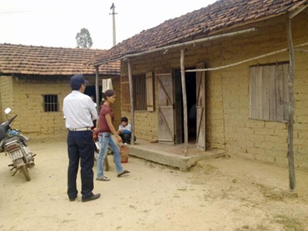Nhà của ông bà ngoại Thanh ở Sóc Sơn (Hà Nội), nơi Thanh tá túc nhờ.