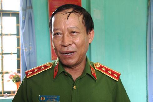 Thượng tướng Lê Quý Vương - Thứ trưởng Bộ Công an thông tin về vụ án. Ảnh: Bá Chiêm.