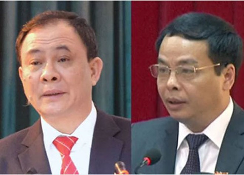 Bí thư Tỉnh ủy Yên Bái Phạm Duy Cường (trái) và Chủ tịch HĐND tỉnh Ngô Ngọc Tuấn không thể qua khỏi vì vết thương quá nặng từ phát súng ở cự ly gần.