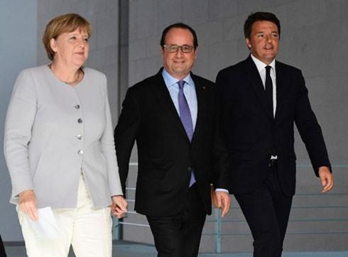 Italy, Đức, Pháp nhóm họp thảo luận về tương lai EU.