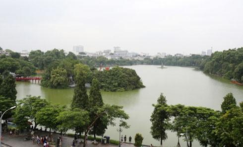 Vị trí ga ngầm C9 gần hồ Hoàn Kiếm.