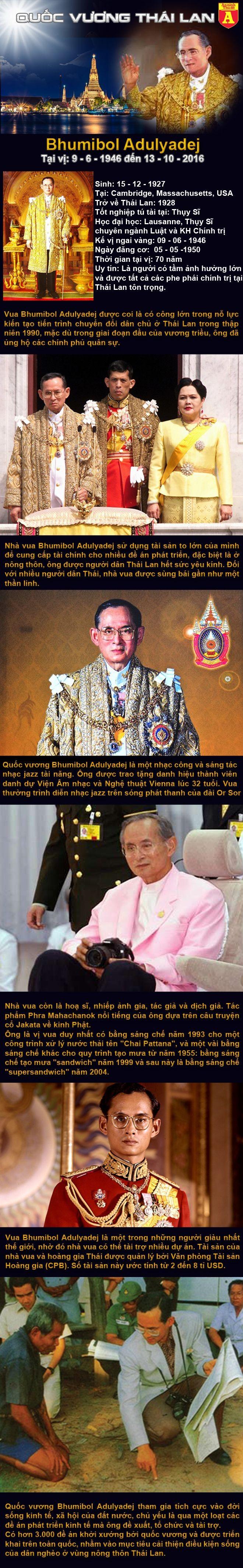 [infographic] Chân dung Vị vua được 68 triệu người Thái yêu kính