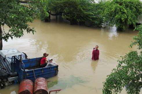 Toàn cảnh ngập lụt ở hai huyện Đồng Xuân, Tuy An