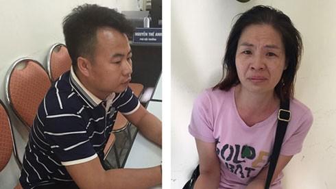 Hai đối tượng người Trung Quốc - Tan Shi Ren và Zhao Xiao Mei bị Công an Hà Nội bắt giữ vì cấu kết với một số người Việt Nam chiếm đoạt tiền của nhiều nạn nhân qua tài khoản ngân hàng.