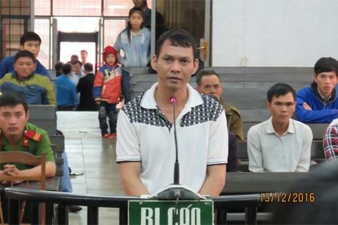 Bị cáo Thơ tại phiên tòa.