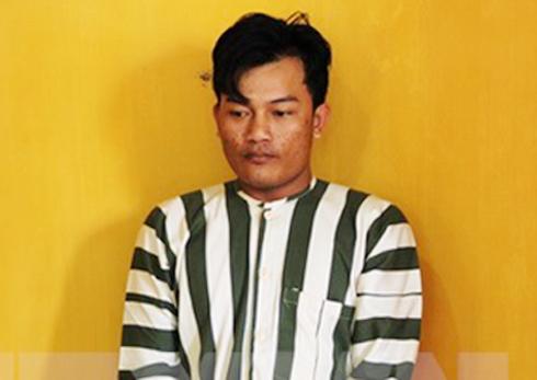 Đối tượng cướp tiệm vàng Lê Văn Khoa đang bị tạm giam.