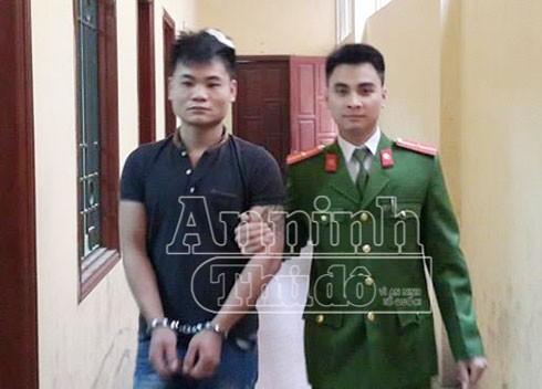 Đối tượng Bạch Như Phong bị CAQ Đống Đa bắt giữ.