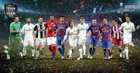 Đội hình tiêu biểu của UEFA 2016.
