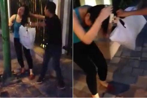 Cô gái bán hàng lừa đảo bị shiiper đánh tơi bời giữa đường.