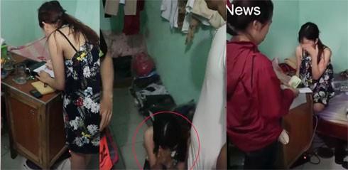 Cô gái quỳ sụp xuống đất xin lỗi và viết bản kiểm điểm hứa không bán hàng lừa đảo trên facebook.