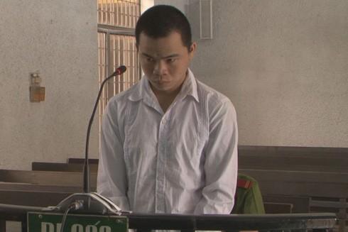 Bị cáo Phúc tại phiên tòa.