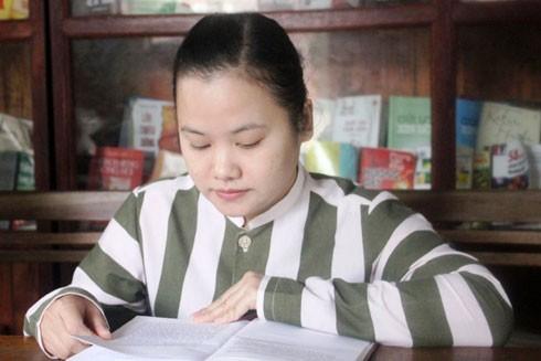 Nguyễn Thị Mỹ Dung đang cố gắng cải tạo thật tốt để sớm được trở về với gia đình của mình.