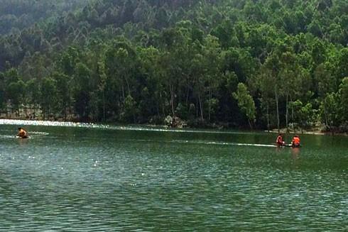 Đập Long Thái nơi xảy ra vụ lật thuyền khiến ông Hòa tử vong (ảnh: Thuận Khánh)