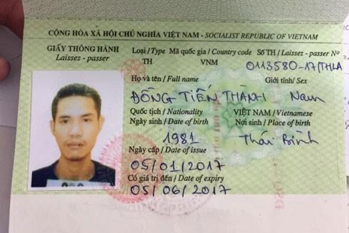 Đồng Tiến Thành bị lực lượng Công an di lý từ CHDCND Lào về Việt Nam.
