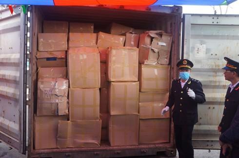 Cận cảnh container lá Khat cực độc tại Hải Phòng 