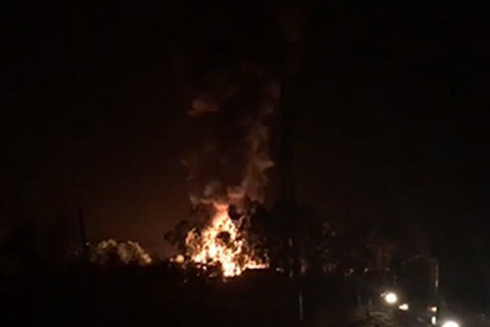 Cháy cơ sở sang chiết gas.