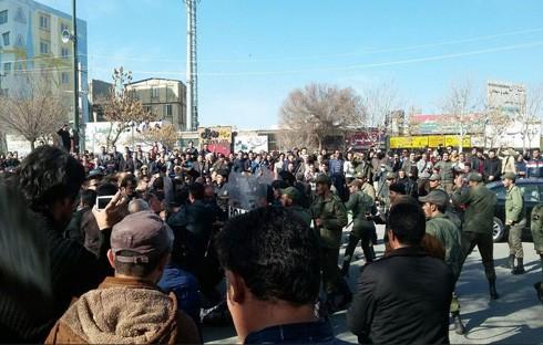 Biểu tình phản đối chính phủ ở Iran.