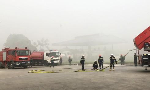 Lực lượng chữa cháy nhanh chóng được triển khai