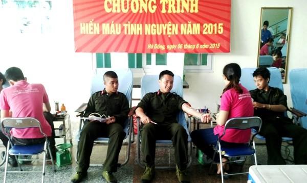 Sôi nổi hoạt động hiến máu tình nguyện tại Trung tâm huấn luyện và bồi dưỡng nghiệp vụ CATP Hà Nội