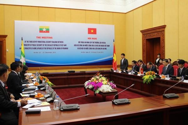 Hội nghị đối thoại an ninh cấp Thứ trưởng lần thứ ba giữa Bộ Công an Việt Nam và Bộ Nội vụ Myanmar