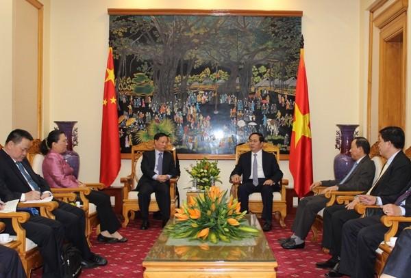 Bộ trưởng Trần Đại Quang tiếp Thứ trưởng Bộ Công an Trung Quốc Mạnh Khánh Phong