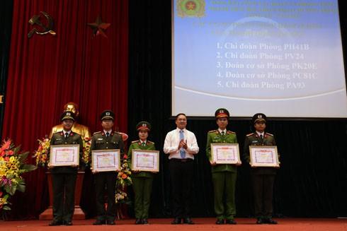5 cơ sở Đoàn thuộc CATP Hà Nội được Thành đoàn Hà Nội khen thưởng