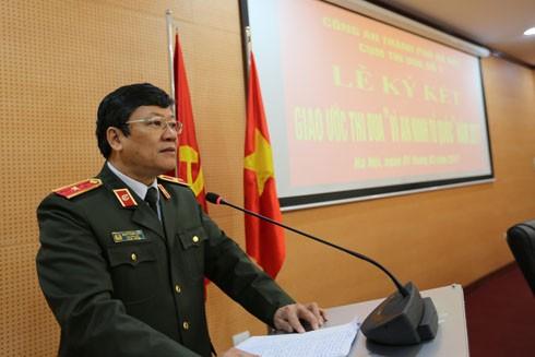 Thiếu tướng Bạch Thành Định, Phó Giám đốc CATP Hà Nội phát biểu chỉ đạo