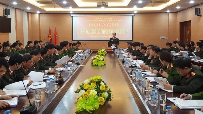 Hội nghị triển khai công tác tuyển sinh CAND năm 2017 của CATP Hà Nội