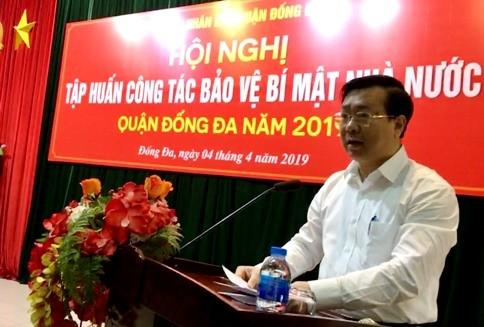 ÔngVõ Nguyên Phong, Chủ tịch UBND quận Đống Đa nhấn mạnh tầm quan trọng của buổi tập huấn