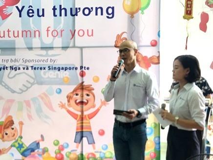 Ông Daniel Ho, Phó Chủ tịch Tập đoàn Terex chia sẻ tại buổi lễ