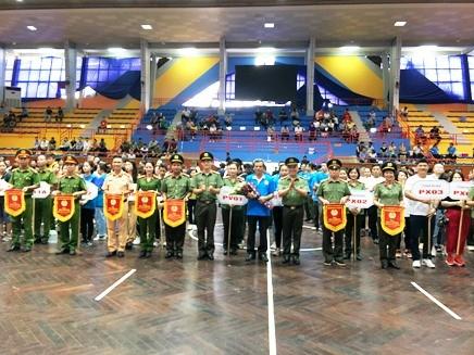 Ngày hội thu hút sự tham gia tranh tài của 43 đoàn thuộc 6 Cụm thi đua CATP Hà Nội