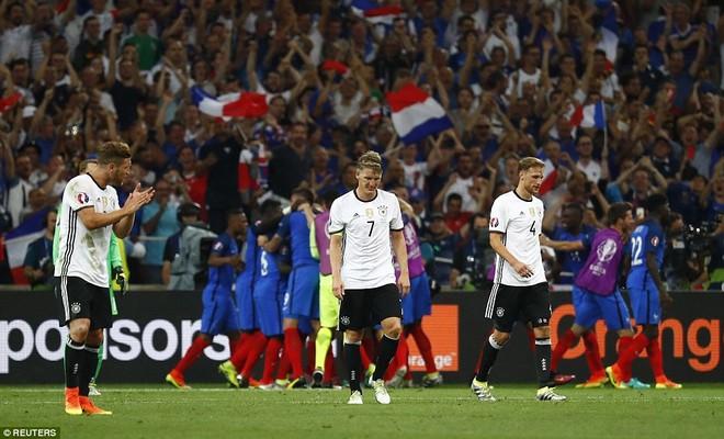 Sự thất vọng tràn trề của các cầu thủ Đức