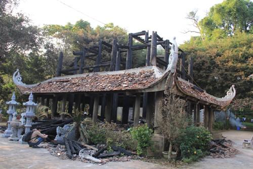 Đền thờ Trung túc vương Lê Lai thiệt hại nặng nề sau đám cháy