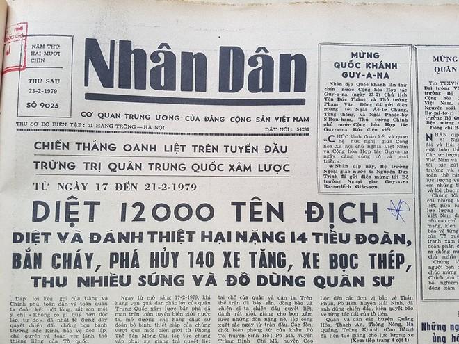 Báo Nhân dân ra ngày 23-2-1979