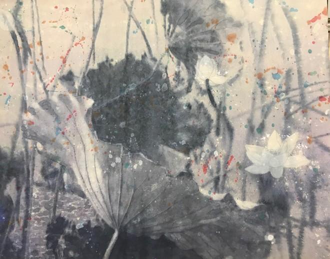 Màu nước đen trắng trên giấy dó- Đào Thành Dzuy