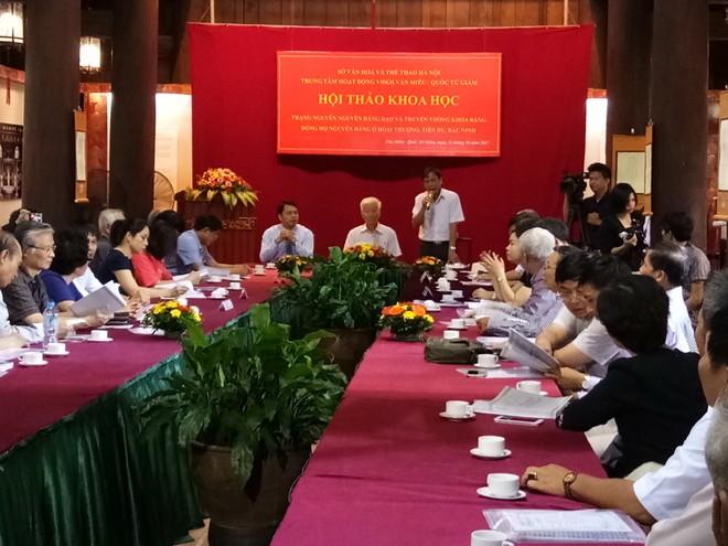 Hội thảo về cuộc đời và sự nghiệp trạng nguyên Nguyễn Đăng Đạo