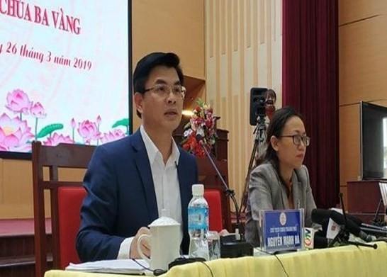 Chủ tịch UBND TP Uông Bí và Giám đốc Sở TTTT Quảng Ninh chủ trì họp báo
