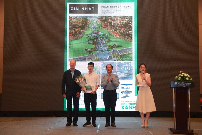 Đồ án Trung tâm văn hóa du lịch Làng chài Lý Sơn của tác giả Phan nguyên Trọng được trao giải nhất cuộc thi Thiết kế Xanh 2019