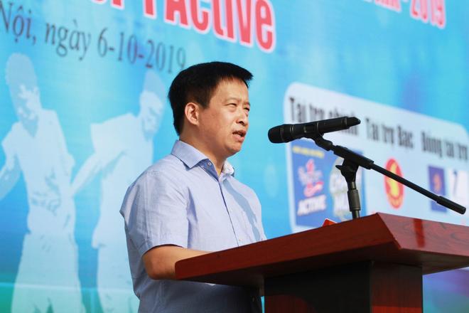 Ông Nguyễn Thanh Bình - Tổng Biên tập Báo An ninh Thủ đô, Trưởng BTC giải phát biểu khai mạc