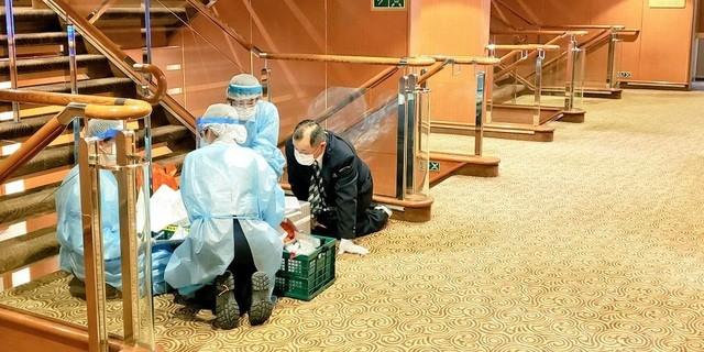 Các hoạt động y tế đang được triển khai trên tàu Diamond Princess