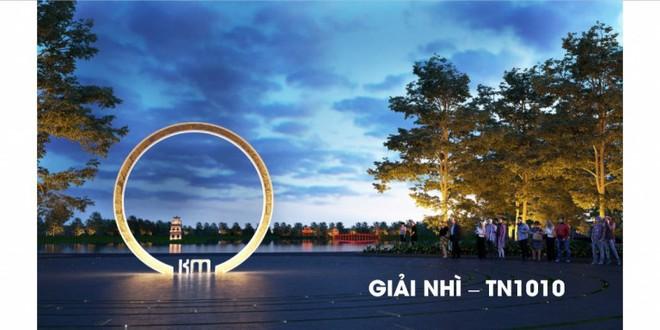"""Công bố giải thưởng cuộc thi thiết kế """"Cột mốc Km0"""" dự kiến xây dựng tại khu vực hồ Hoàn Kiếm"""