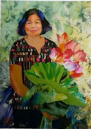 Nữ họa sĩ biến vải vụn thành tác phẩm nghệ thuật ảnh 16
