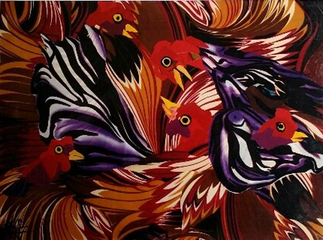 Nữ họa sĩ biến vải vụn thành tác phẩm nghệ thuật ảnh 13