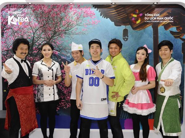 Du khách sẽ được tiếp cận nhiều thông tin bổ ích tại gian hàng của Tổng cục Du lịch Hàn Quốc tại Việt Nam.