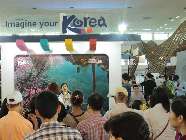 Gian hàng của Tổng cục Du lịch Hàn Quốc tại Hội chợ Du lịch quốc tế 2016
